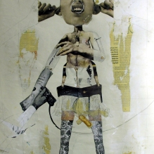 Damage 1995 drawing on paper collage