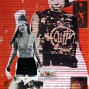 Orange County Cowboy 1995 screenprint on paper and acetate collage