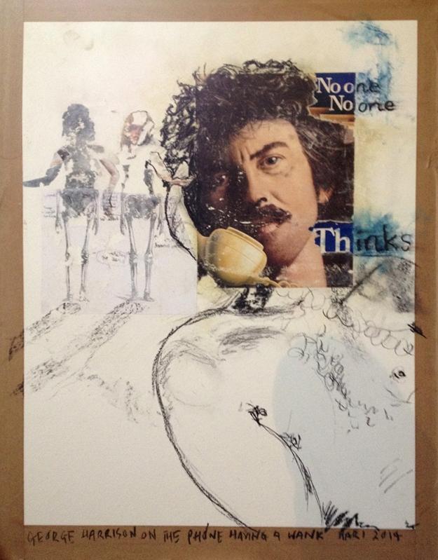 George Harrison on the Phone Having a Wank